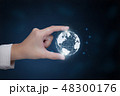 Hand present world graphic 48300176