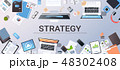 ビジネス 商売 デスクのイラスト 48302408