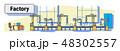 ベクトル 罫 組み立てのイラスト 48302557