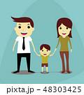 ファミリー 家庭 家族のイラスト 48303425