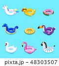 スイミング 水泳 おもちゃのイラスト 48303507
