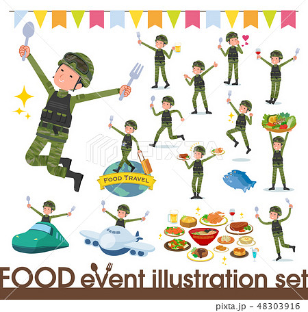 flat type military wear man_food festival 48303916
