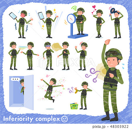 flat type military wear man_complex 48303922