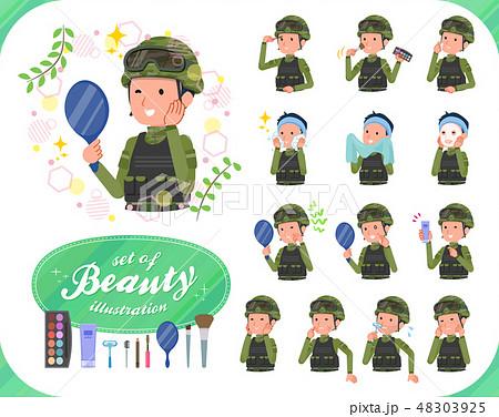 flat type military wear man_beauty 48303925