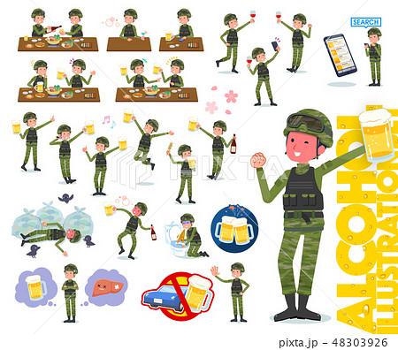 flat type military wear man_alcohol 48303926
