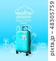 スーツケース トランク トランクケースのイラスト 48305759