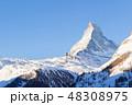Matterhorn Mountain at Sunny Winter Day as Seen from Zermatt 48308975