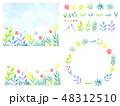 水彩 植物 フレームのイラスト 48312510