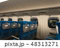 座席 シート 電車の写真 48313271