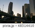 大阪、中之島の夕景、高層ビル群 48314410