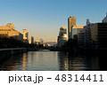 大阪、中之島の夕景、高層ビル群 48314411