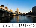 大阪、中之島の夕景、高層ビル群 48314412