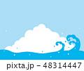 夏 入道雲 青空のイラスト 48314447