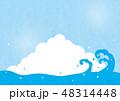 夏 入道雲 青空のイラスト 48314448