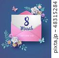 女性 3月 Marchのイラスト 48315284