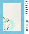 金魚 和紙 水草のイラスト 48316593