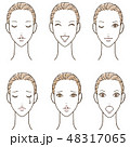 女性 スキンケア 表情6 48317065