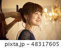 女性 ヘアアレンジ アップスタイルの写真 48317605