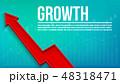 伸び 成長 図表のイラスト 48318471