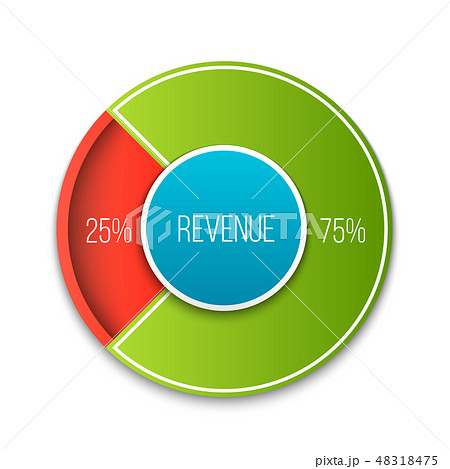 Creative vector illustration of revenue, profit, expenses diagram showing infographic isolated on 48318475