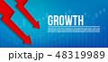 伸び 成長 図表のイラスト 48319989