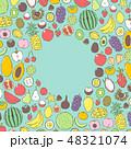 果物 フルーツ ベクターのイラスト 48321074