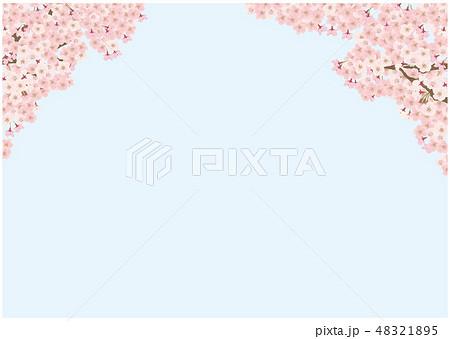 桜 ソメイヨシノ シンプル 背景 イラスト 48321895