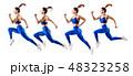 ランナー 走者 女性の写真 48323258