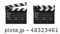 カチンコ ムービー 映画のイラスト 48323461