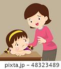 なぐさめる 慰める 女の子のイラスト 48323489