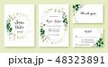 結婚 招待状 招待カードのイラスト 48323891
