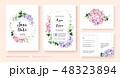 結婚 招待状 招待カードのイラスト 48323894