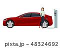 車 自動車 充電中のイラスト 48324692