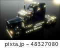 配達 ロジスティック トレーラーのイラスト 48327080
