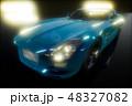 車 自動車 ライトのイラスト 48327082
