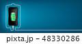 フォン 電話 バッテリーのイラスト 48330286