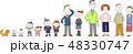 人物 家族 三世代のイラスト 48330747