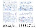 デザイン 柄 組み合わせのイラスト 48331711