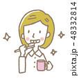 歯磨き 歯ブラシ 女性のイラスト 48332814