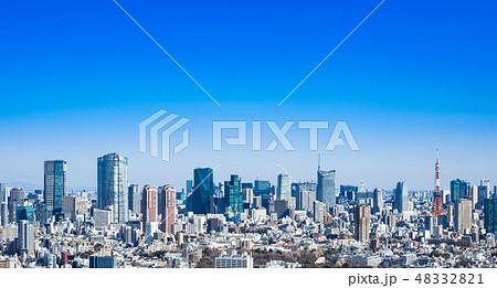 青空と東京シティビュー 48332821