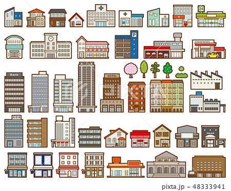 いろいろな建物のイラスト 48333941