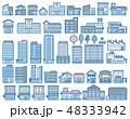 いろいろな建物のイラスト 48333942
