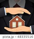 家 不動産 ベクトルのイラスト 48335516