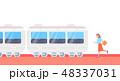 ベクトル 交通 市電のイラスト 48337031