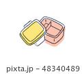 お弁当箱 ピンク2 48340489