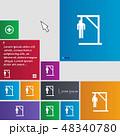 Suicide concept icon sign. buttons. Modern interfa 48340780