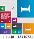 Hotel Icon sign. buttons. Modern interface website 48340781
