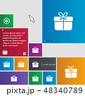 Gift box icon sign. buttons. Modern interface webs 48340789