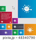Bacteria icon sign. buttons. Modern interface webs 48340790