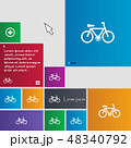 bicycle icon sign. buttons. Modern interface websi 48340792